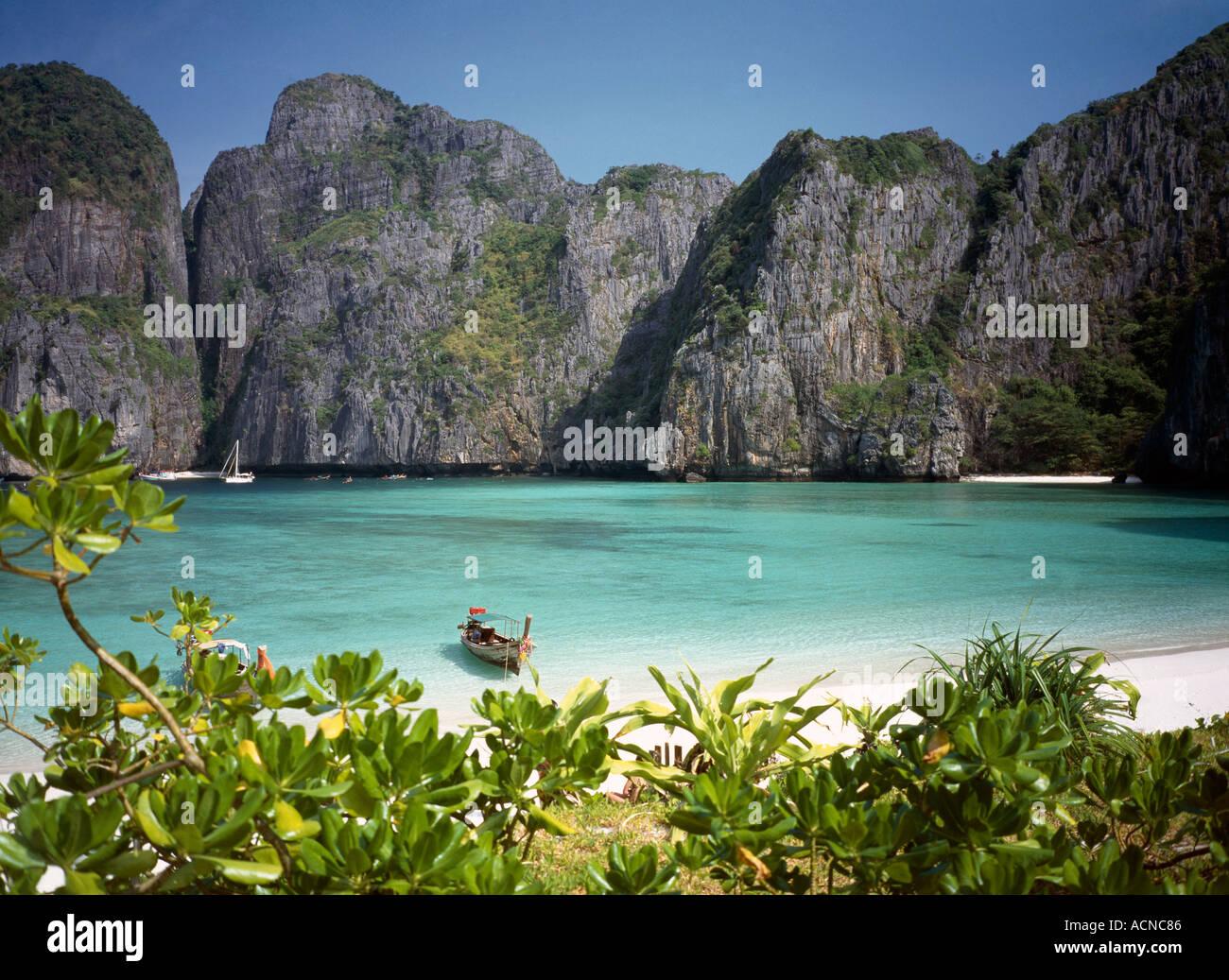thailand phi phi leh island maya beach film location of the beach