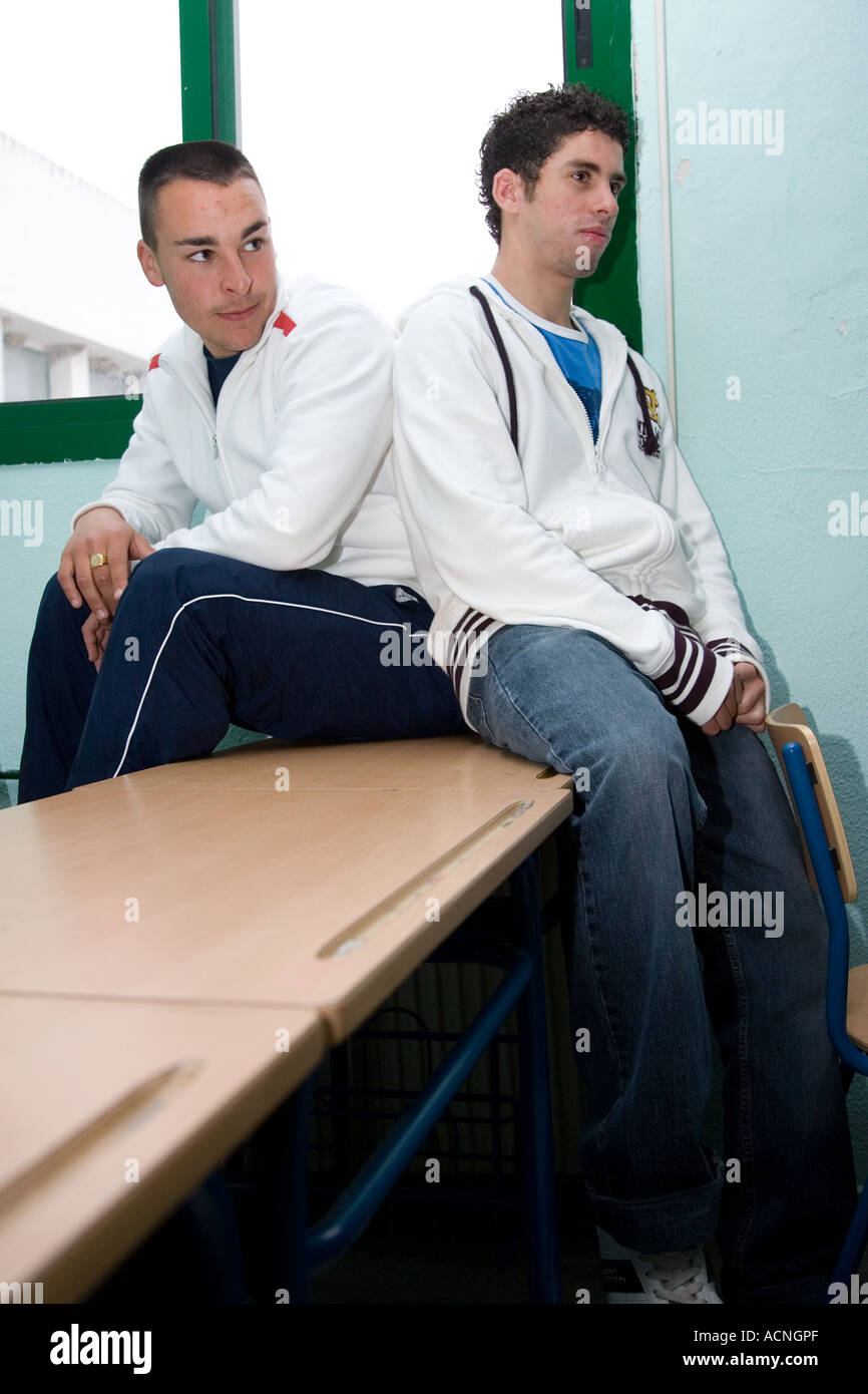 Spanish students in casual wear - Stock Image