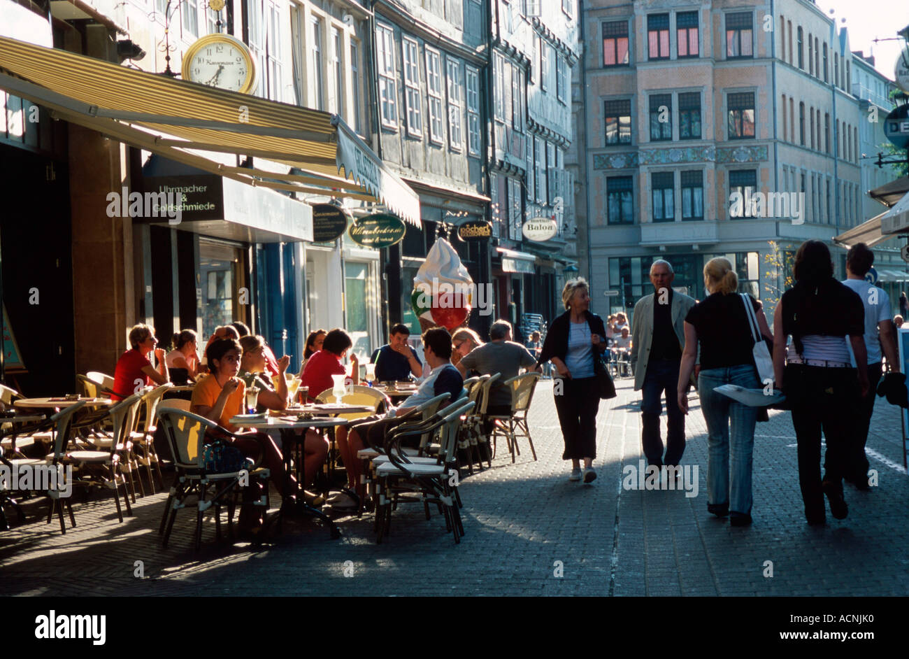 Pavement cafe / Hanover  - Stock Image