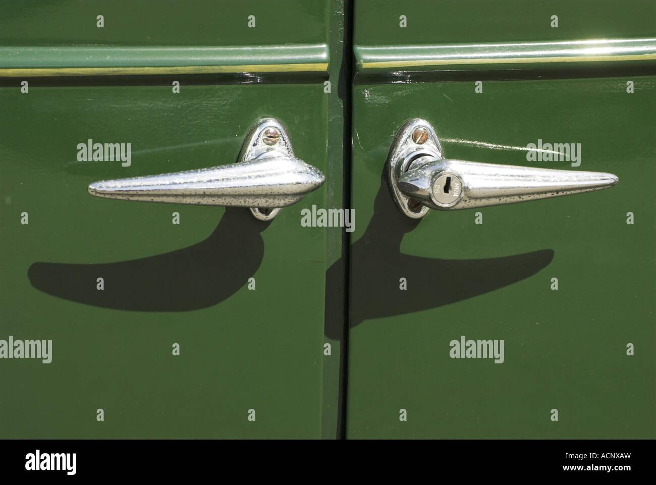 Car door handles - Stock Image