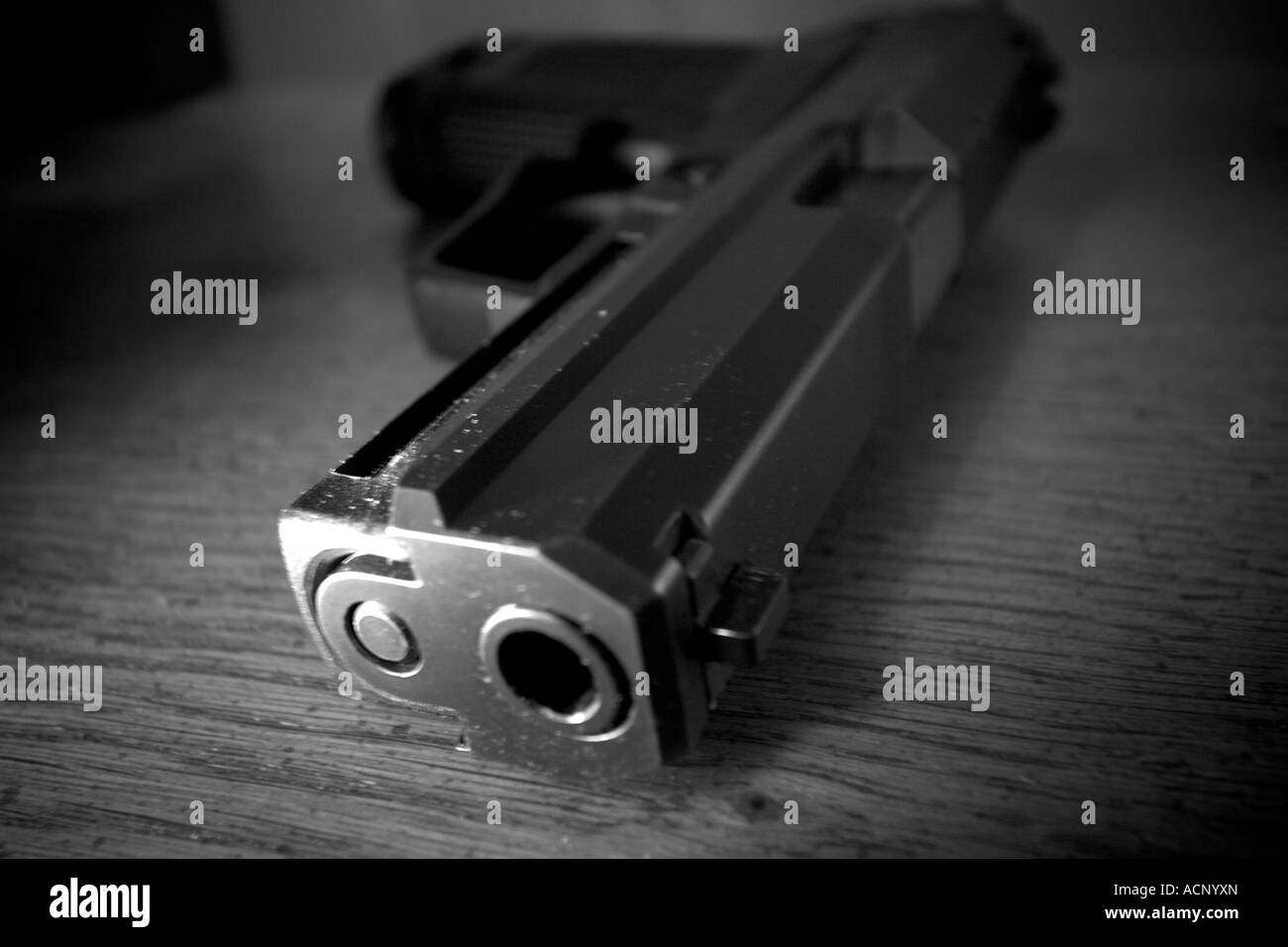 Unsecured 9mm. - Stock Image