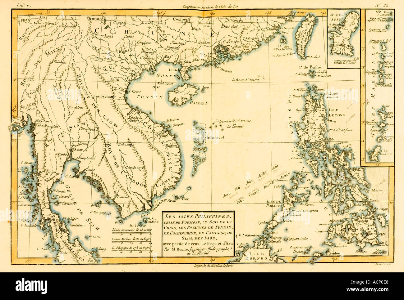 Map of The Philippines circa 1760 Stock Photo