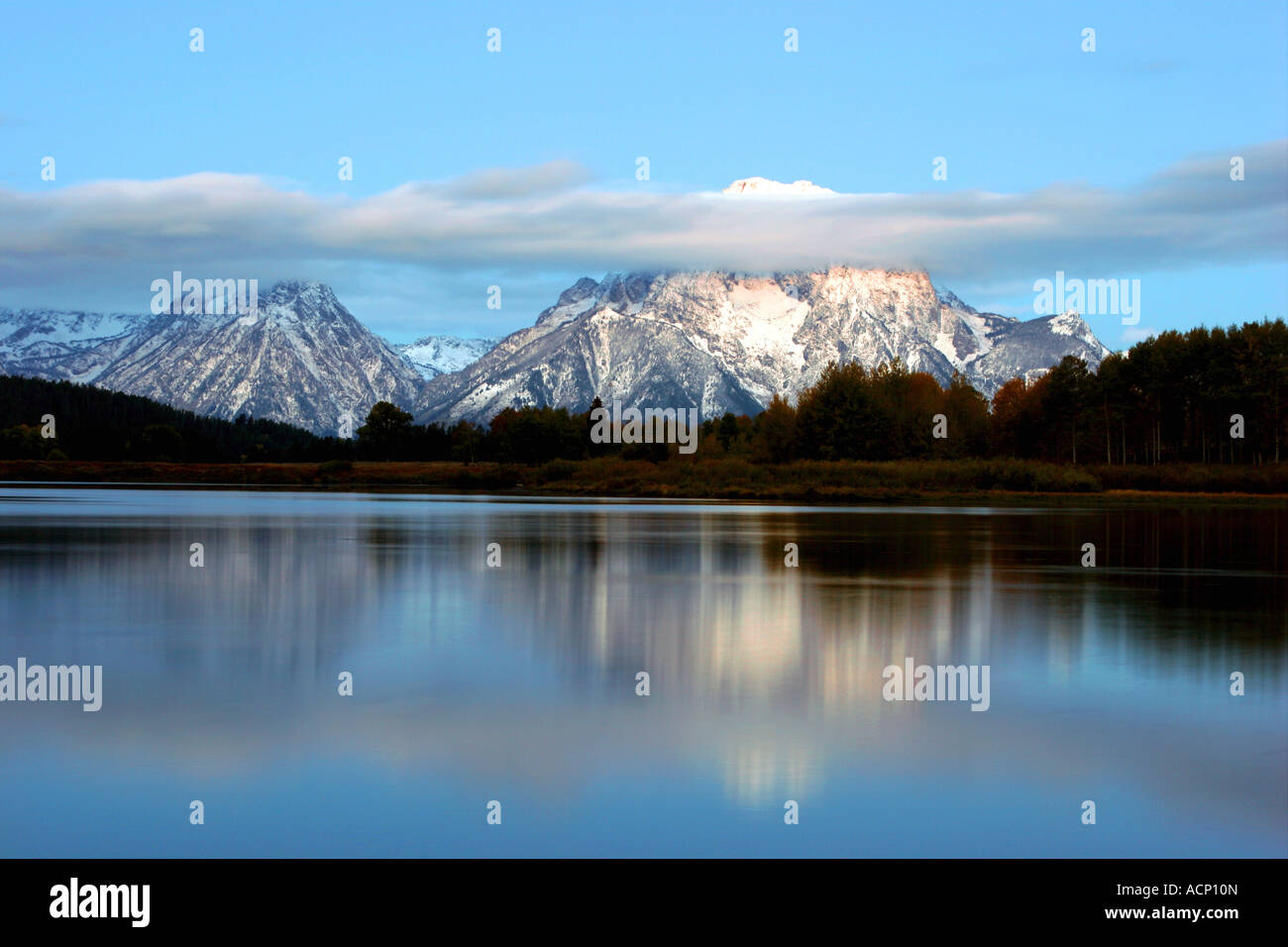 mount moran, grand teton national park, wyoming Stock Photo