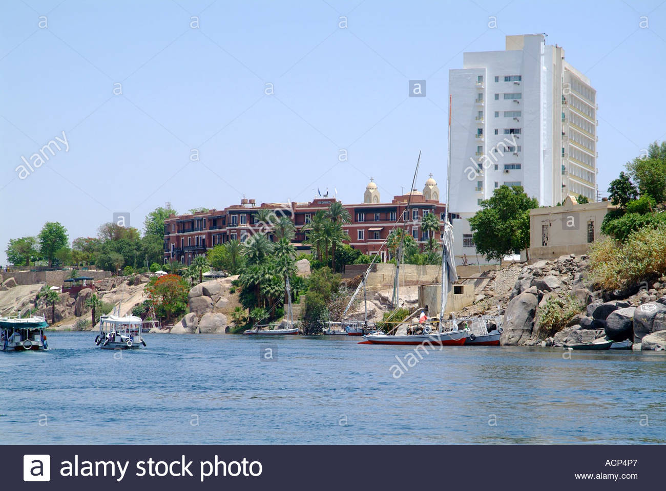 The Famous Aswan Old Cataract Hotel With Its New Addition To The