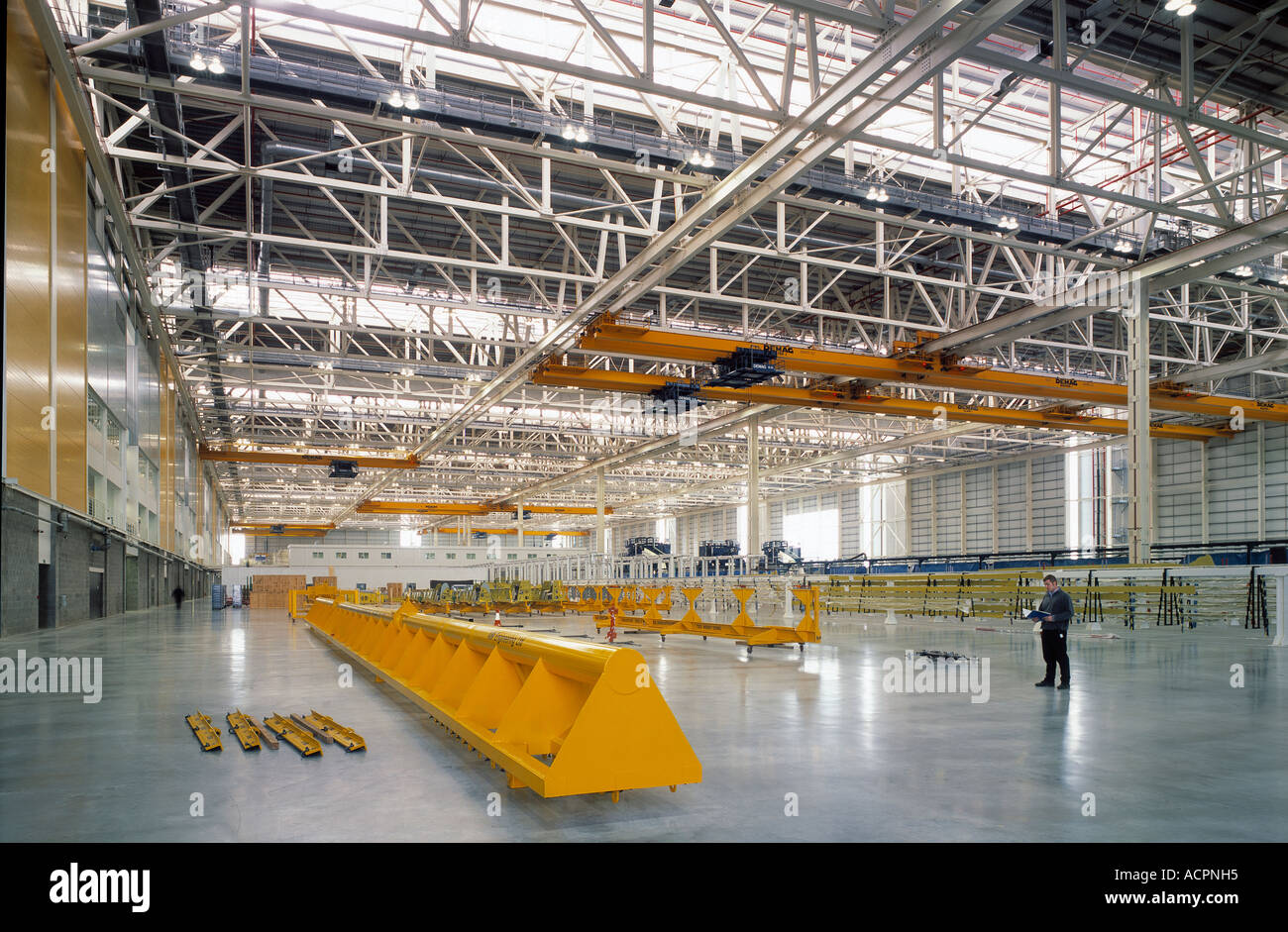 Airbus wing manufacturing hall at the British Aerospace Factory Broughton - Stock Image