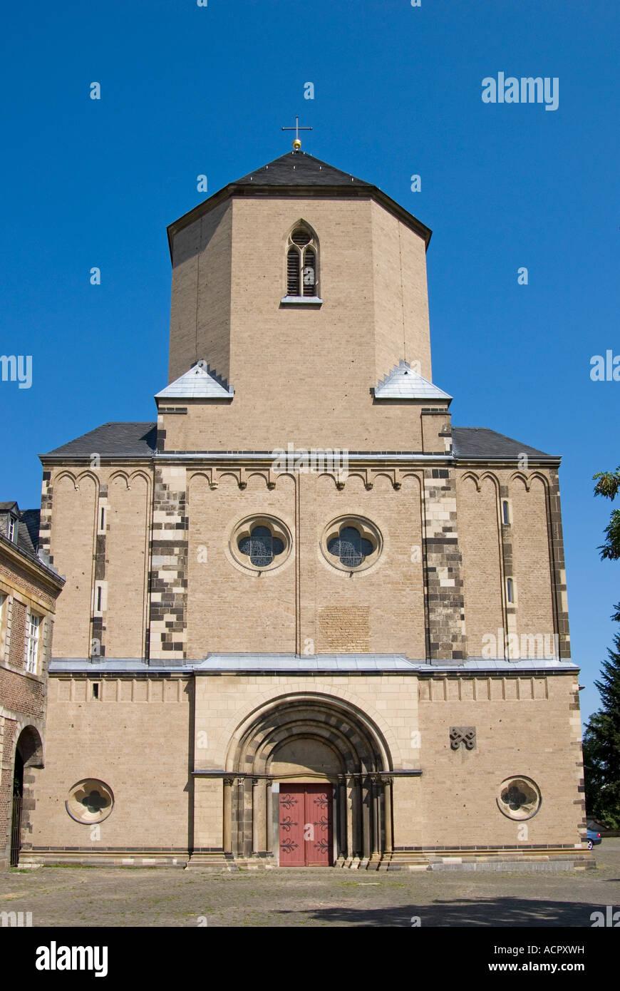 Moenchengladbach, North Rhein Westphalia, Germany. Munster (Benedictine Abbey; 13thC) - Stock Image