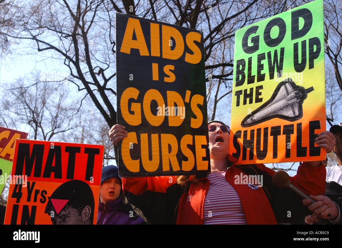 Anti Gay rally - Stock Image