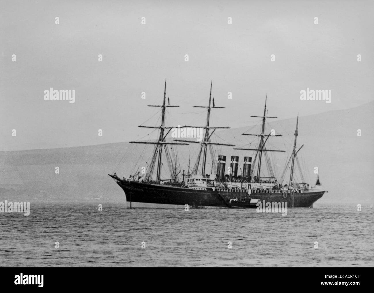 UK Scotland Firth of Clyde The sailing and steamship SS Rome - Stock Image