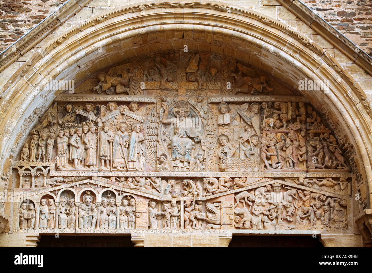 Cathedral of Conques - Aveyron - France - Stock Image