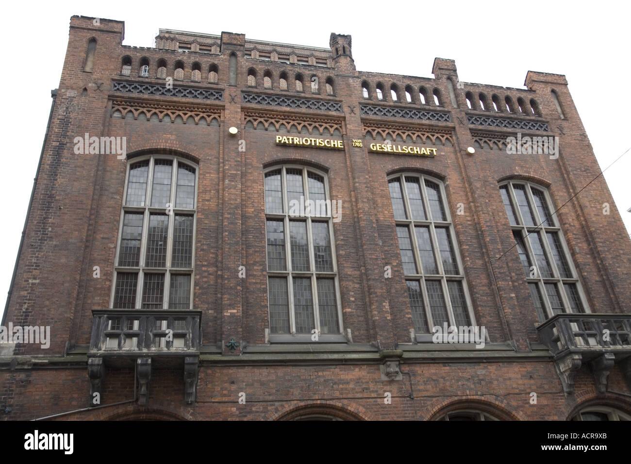Patriotische Gesellschaft , Hamburg, Germany Stock Photo