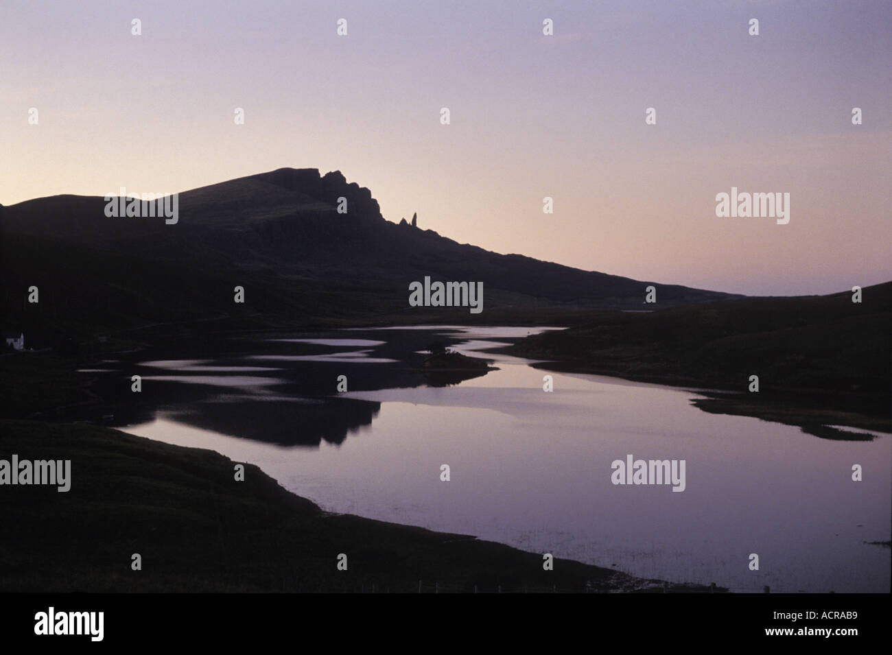The Storr overlooking Loch Leathan at Trotternish on the Isle of Skye Scotland UK - Stock Image
