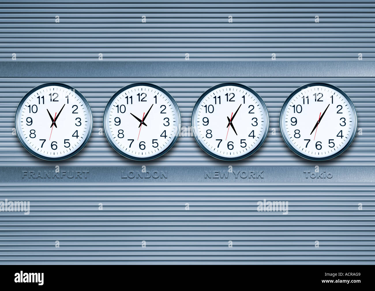 time difference Zeitunterschied Stock Photo