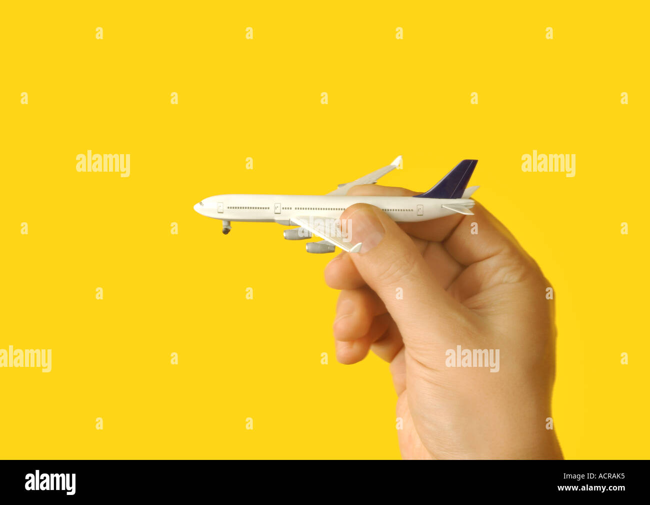 plane airplane Flugzeug - Stock Image
