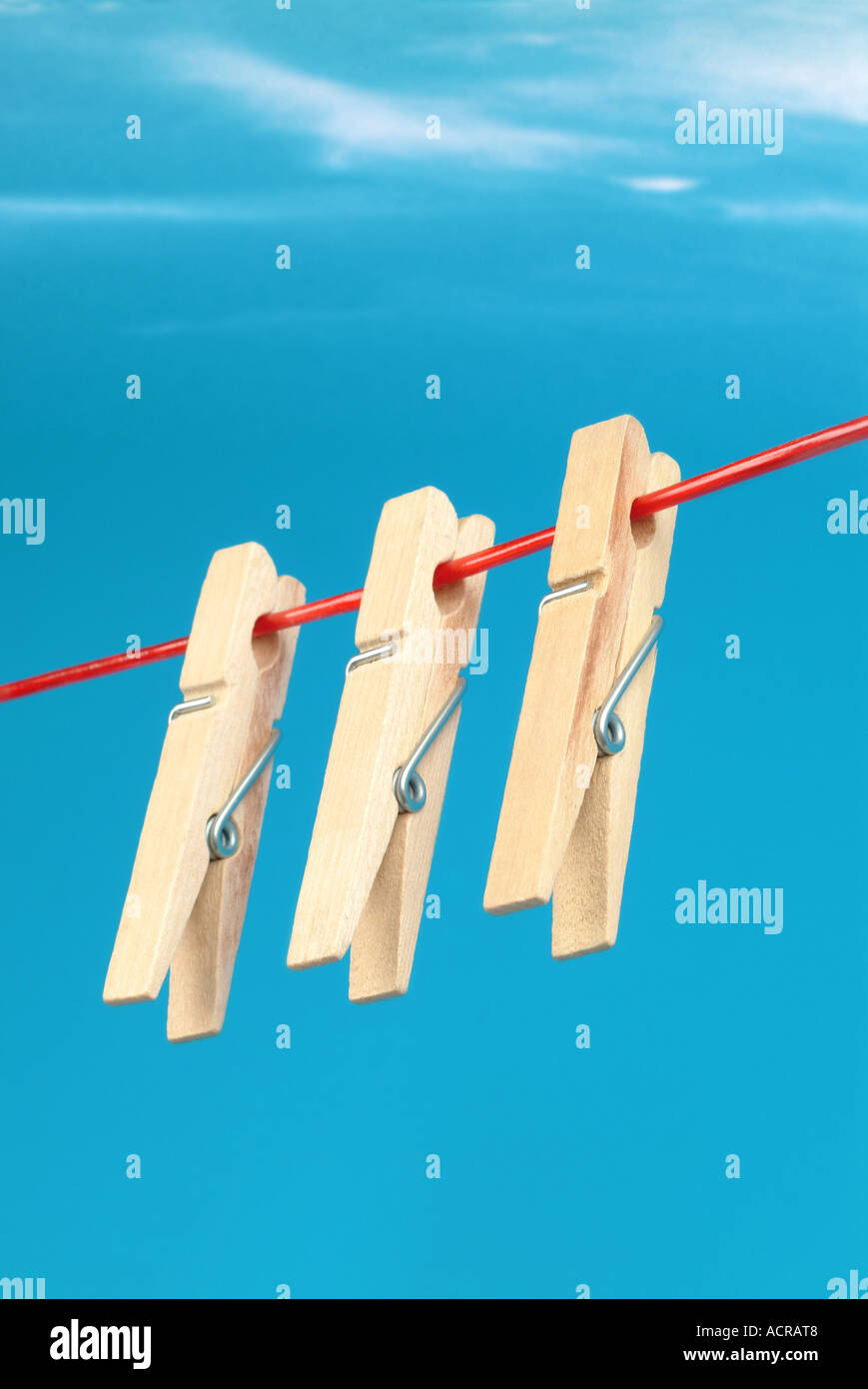 clothesline wäscheleine - Stock Image