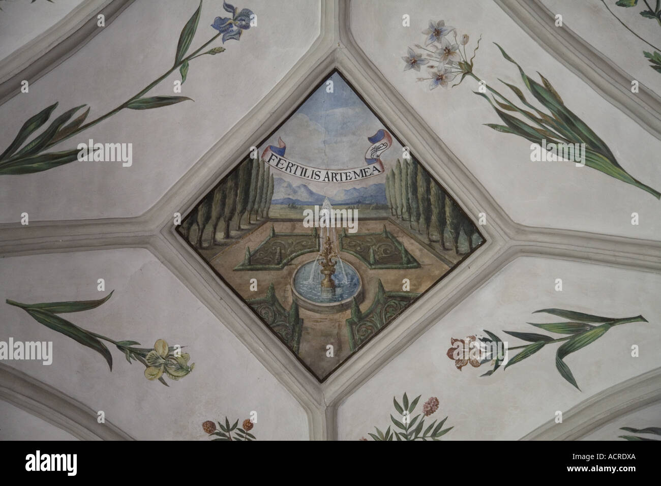 Depicted ceiling, Church, Monastery St Michael, Bamberg, Germany - Stock Image