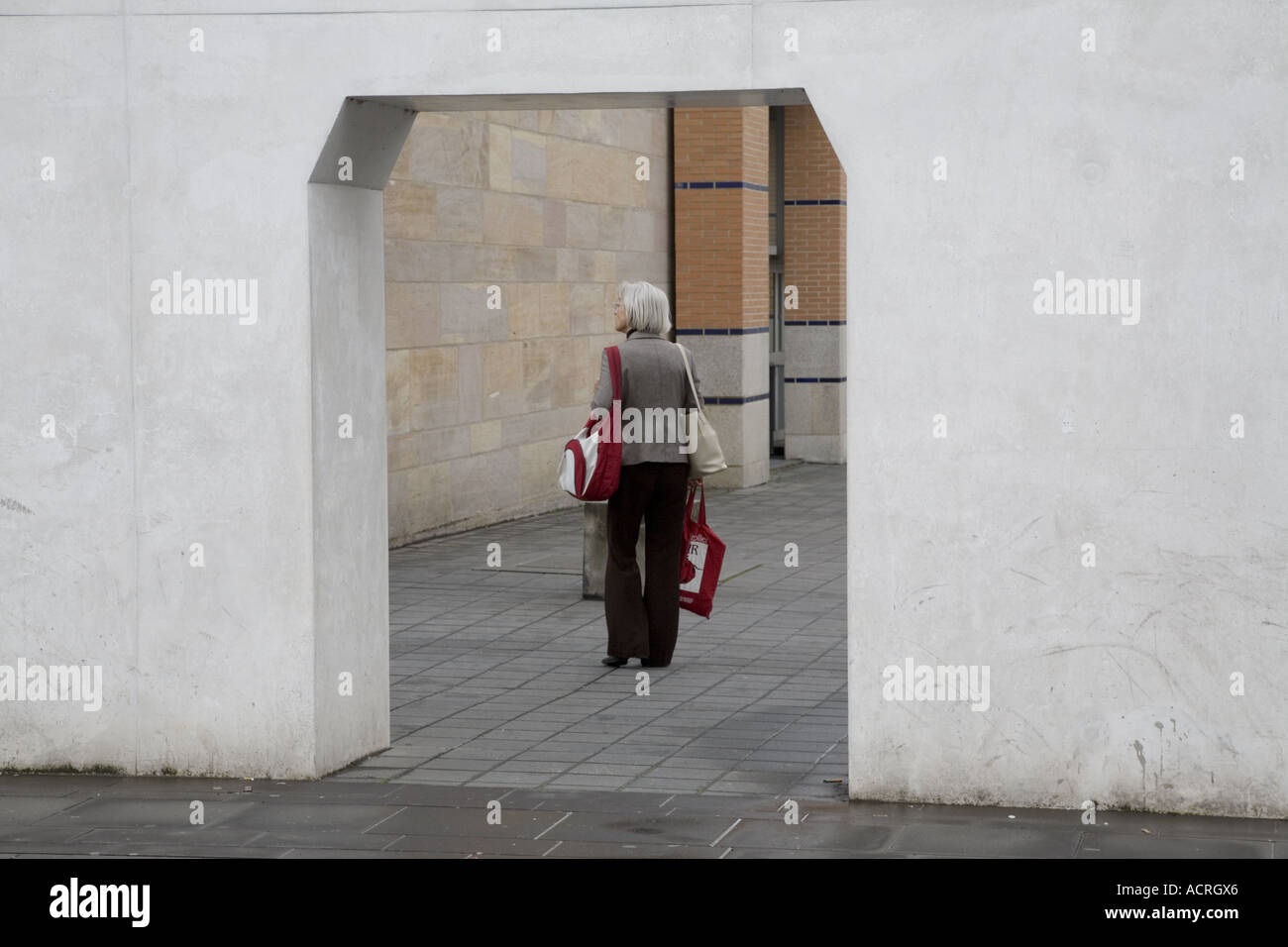 Germanisches Nationalmuseum,  Way of Human Rights, Nuremberg, Germany - Stock Image