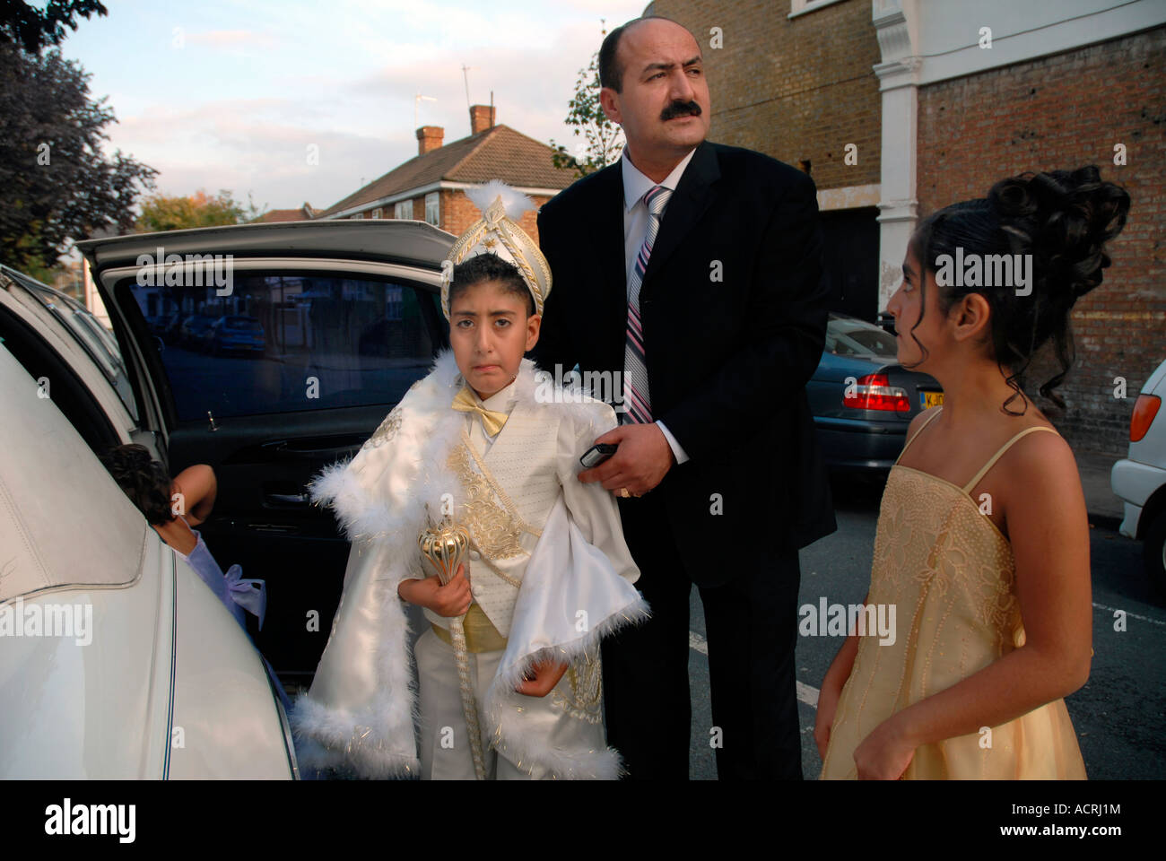 TURKISH BOY BEFORE CIRCUMCISION WITH HIS FAMILY - Stock Image