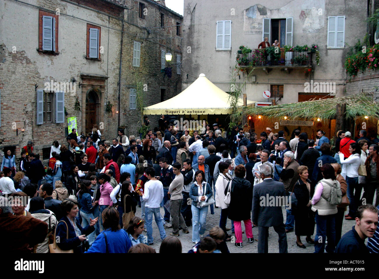In the Autumn,Le Marche, Italy celebrates it's  locally produced foods and enjoys chestnut festivals Stock Photo