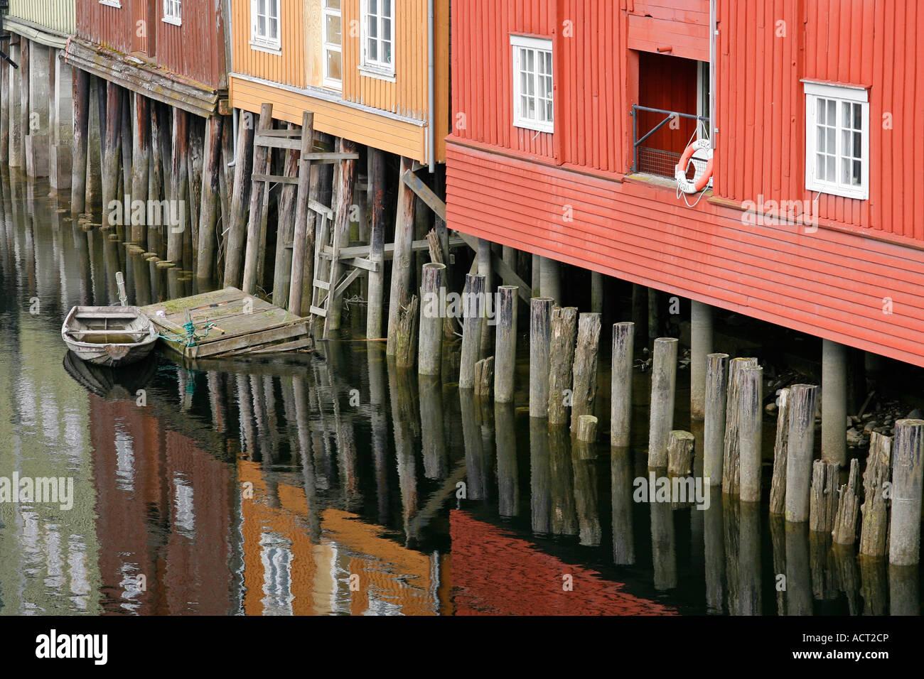 Bryggen Trondheim Norway Europe Stock Photo