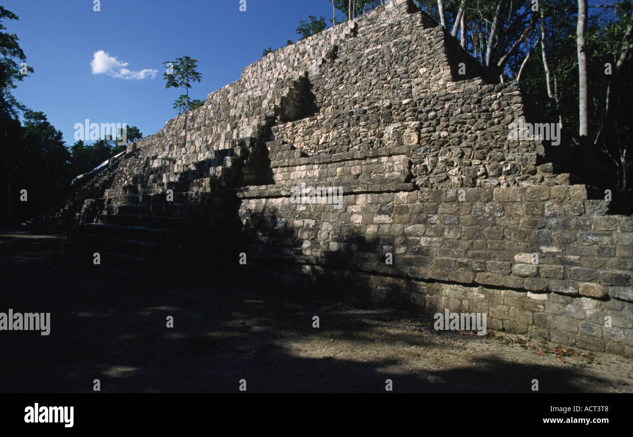 View at the temple of Balamku Mexico Central America - Stock Image
