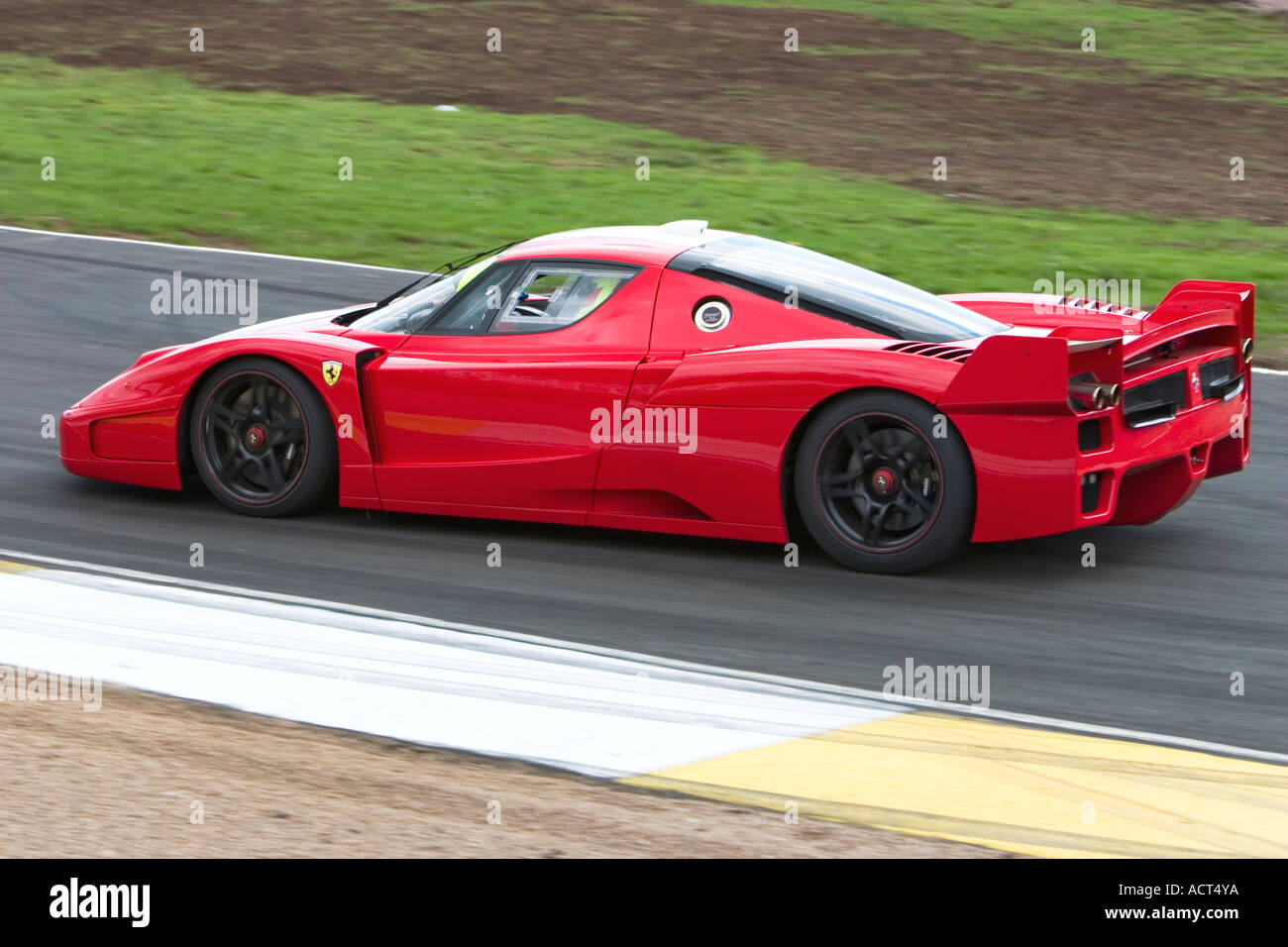 Ferrari Enzo Fxx 2006 Race Car At Knockhill Racing Circuit Stock Photo Alamy