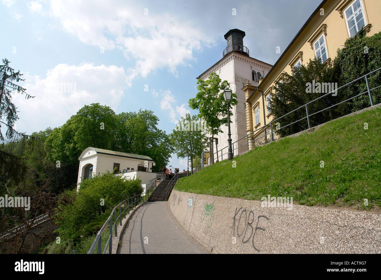 Museum of Naive art Capital hill Zagreb Croatia - Stock Image