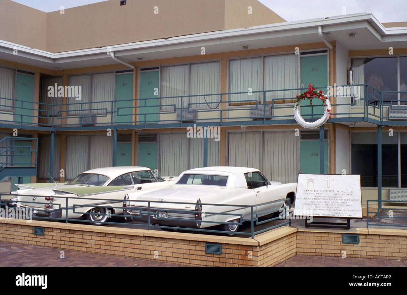 Lorraine Motel, Site of Martin Luther King Assassination Stock Photo