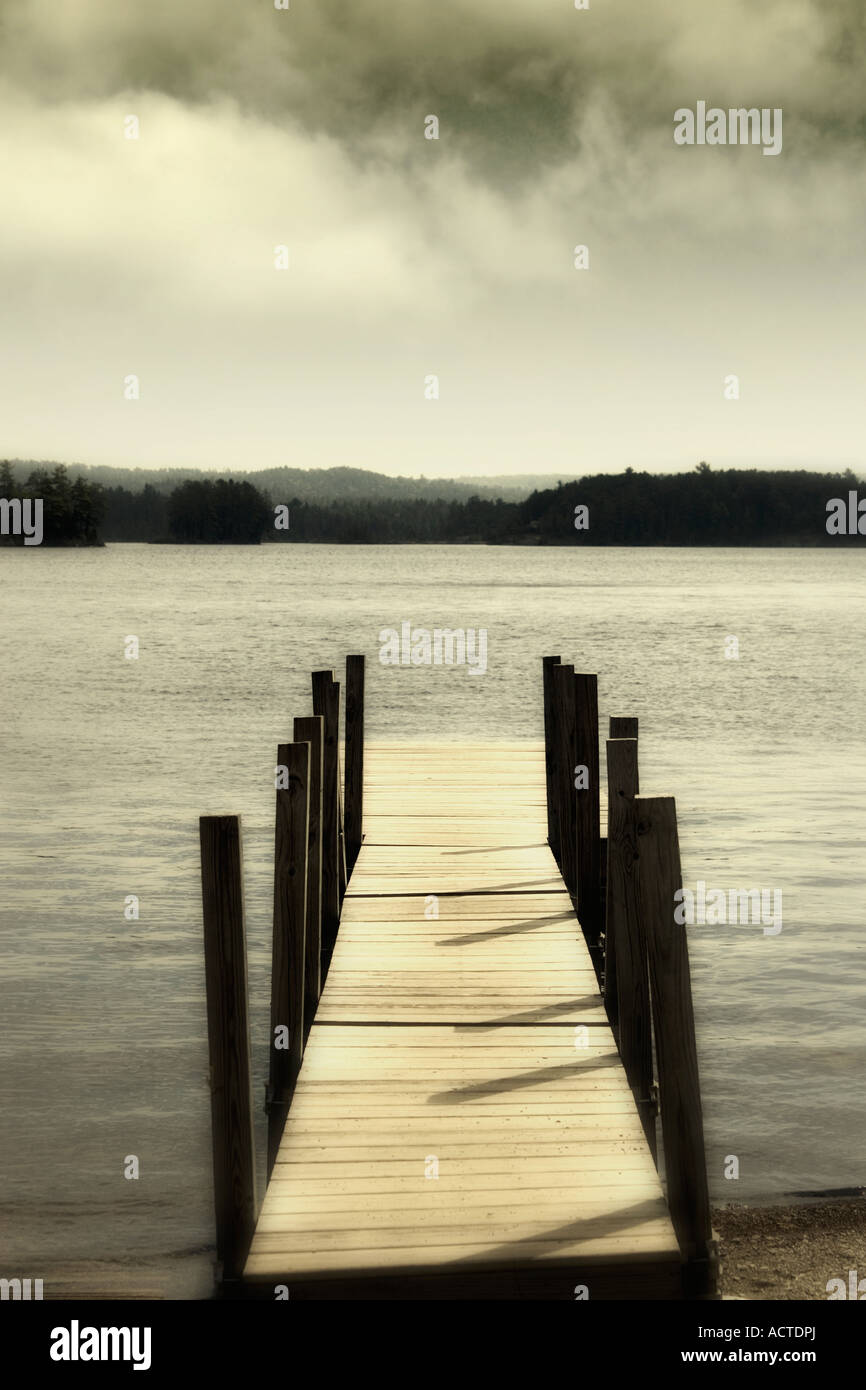 secluded dock - Stock Image