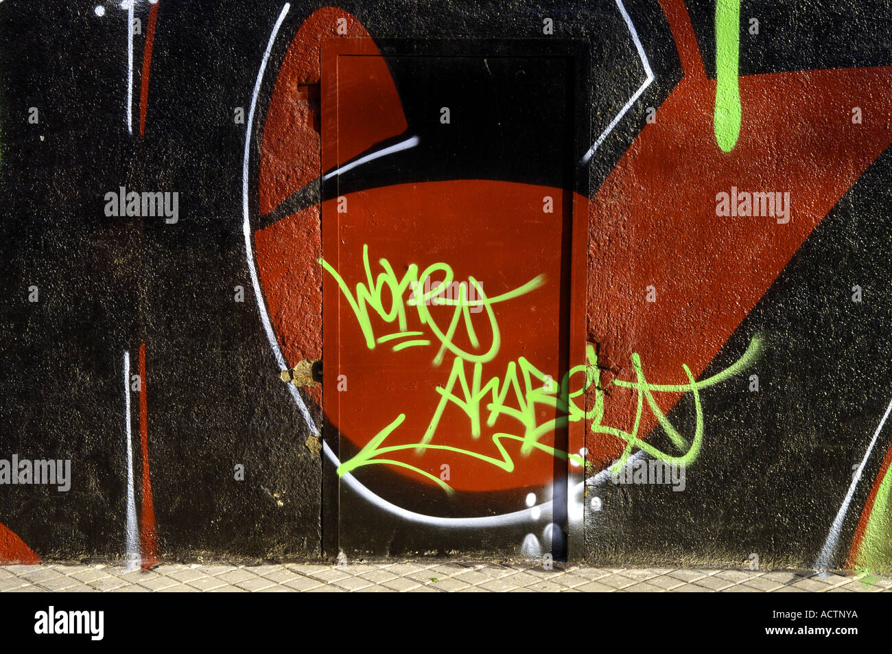 Graffiti graf urban scrawl modern art art spraypaint anti social crime criminal damage vandalism aerosol paint