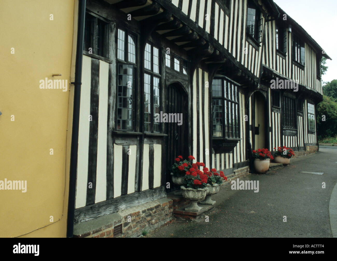 The old English village of Lavenham in Suffolk Uk - Stock Image