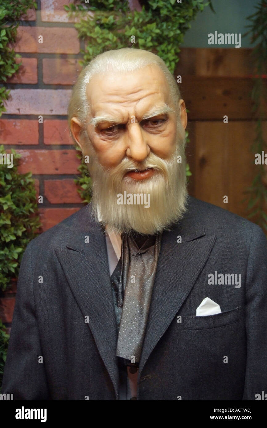 WAX EFFIGY OF ALEXANDER GRAHAM BELL AT ROYAL LONDON WAX MUSEUM BC ...