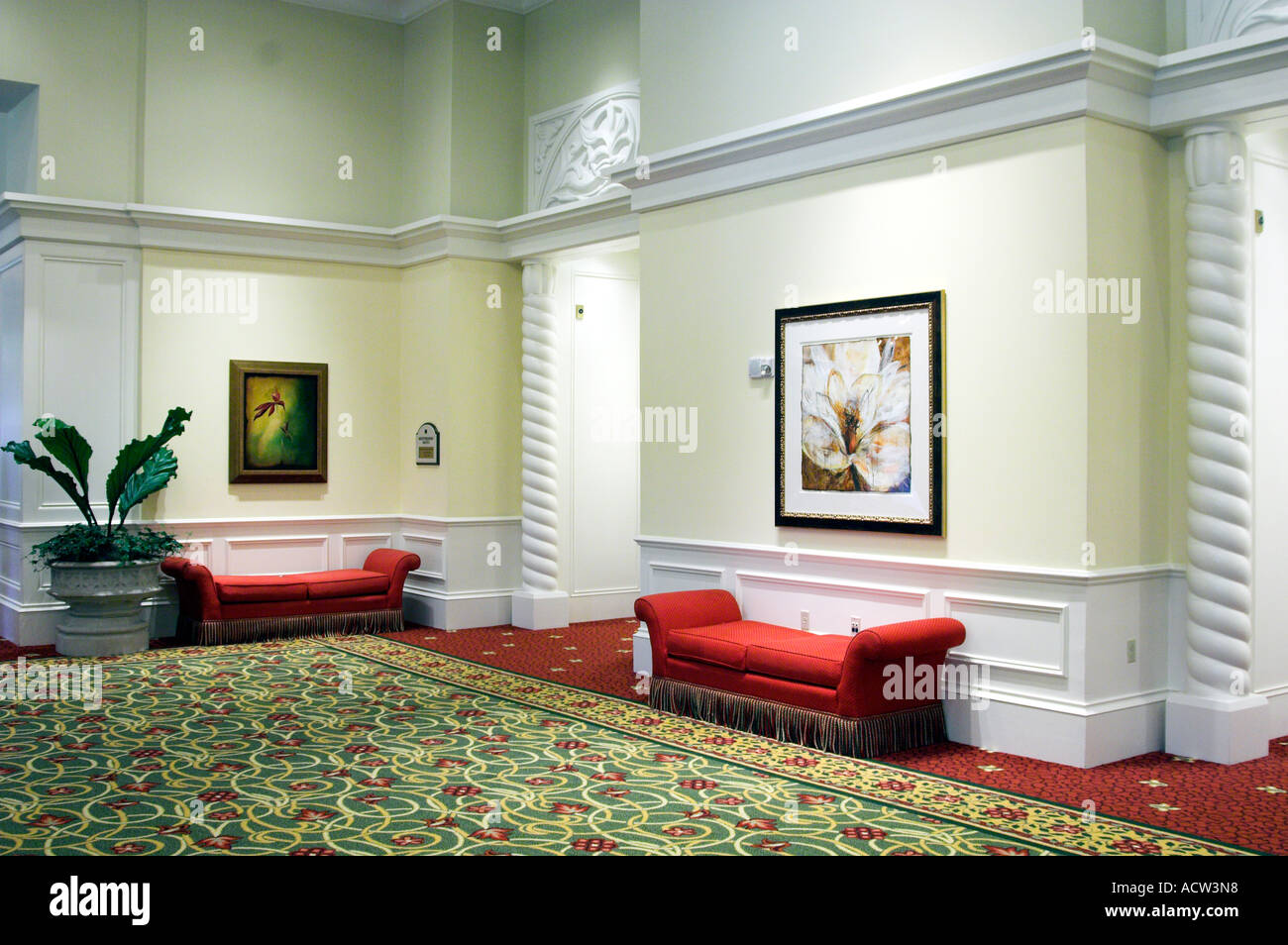 . Interior hallway decor at the J W Marriott Resort in Orlando Florida