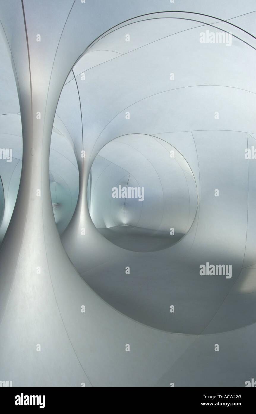 Abstract futuristic interior space - Stock Image