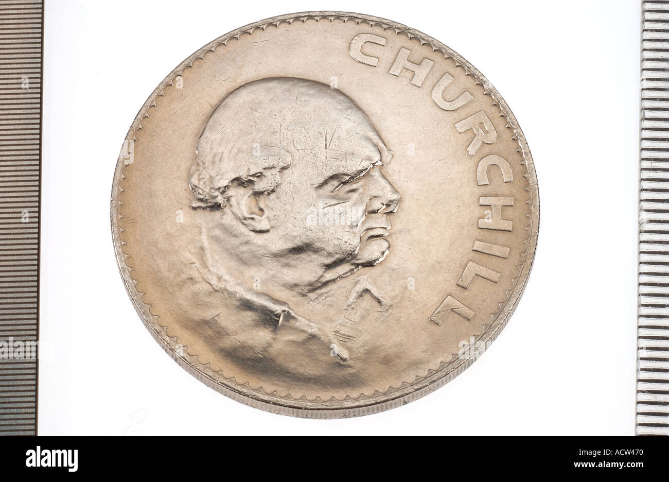 1965 Tales side of Churchill coin - Stock Image