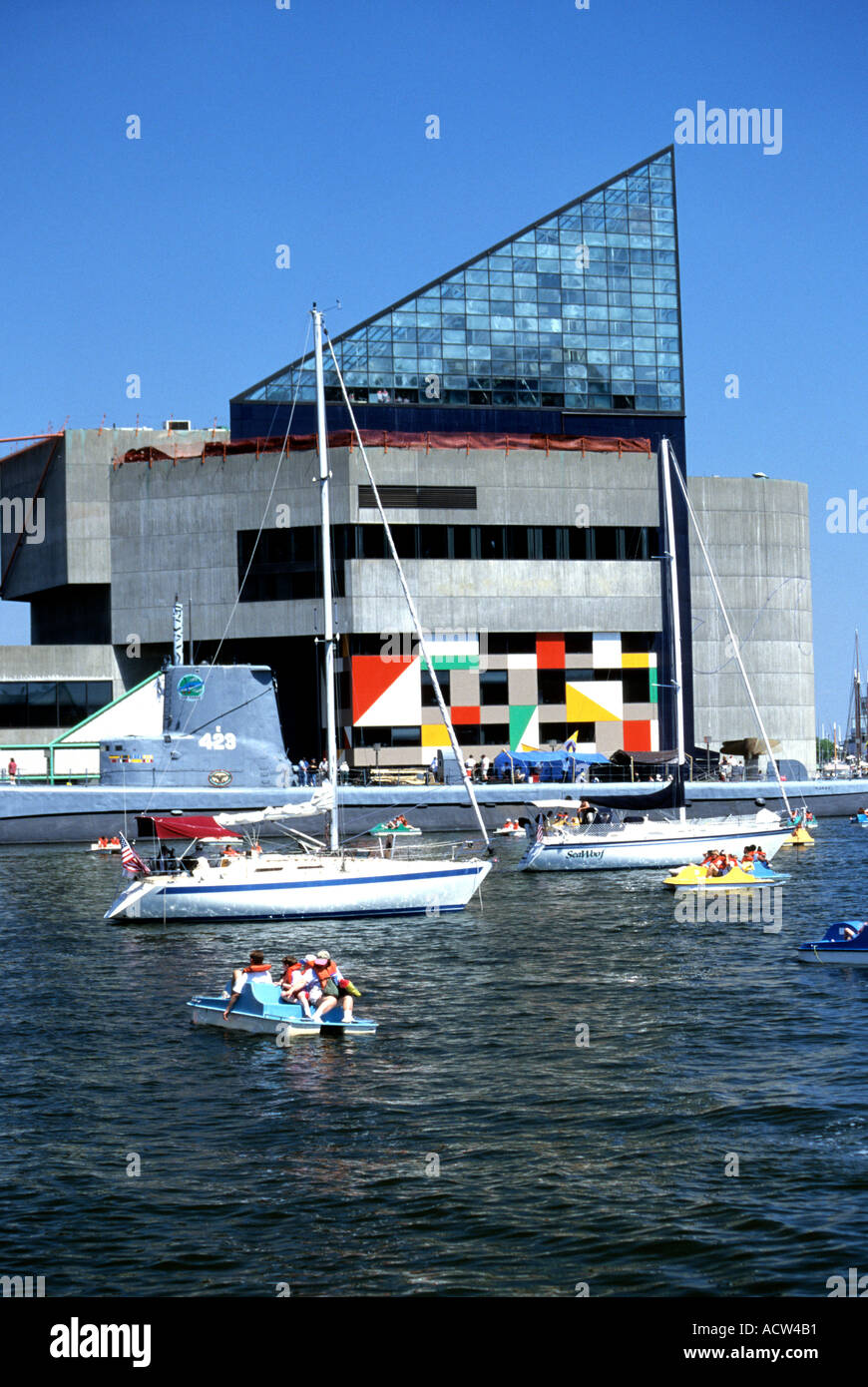 USS Torsk and National Aquarium Baltimore Maryland USA - Stock Image