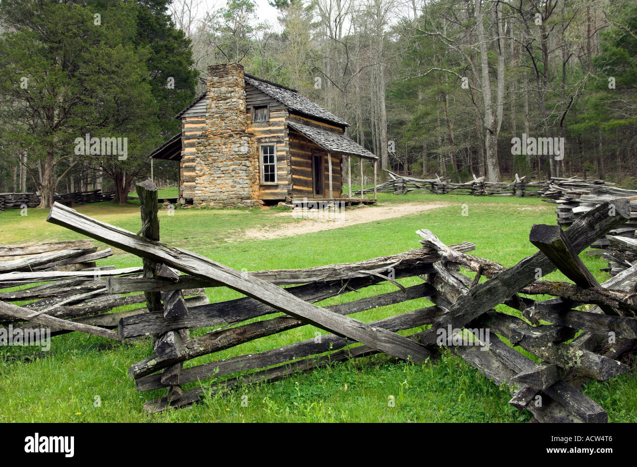 in tennessee smoky cabin great photo mountains usa bud ogle national park stock mountain cabins fall