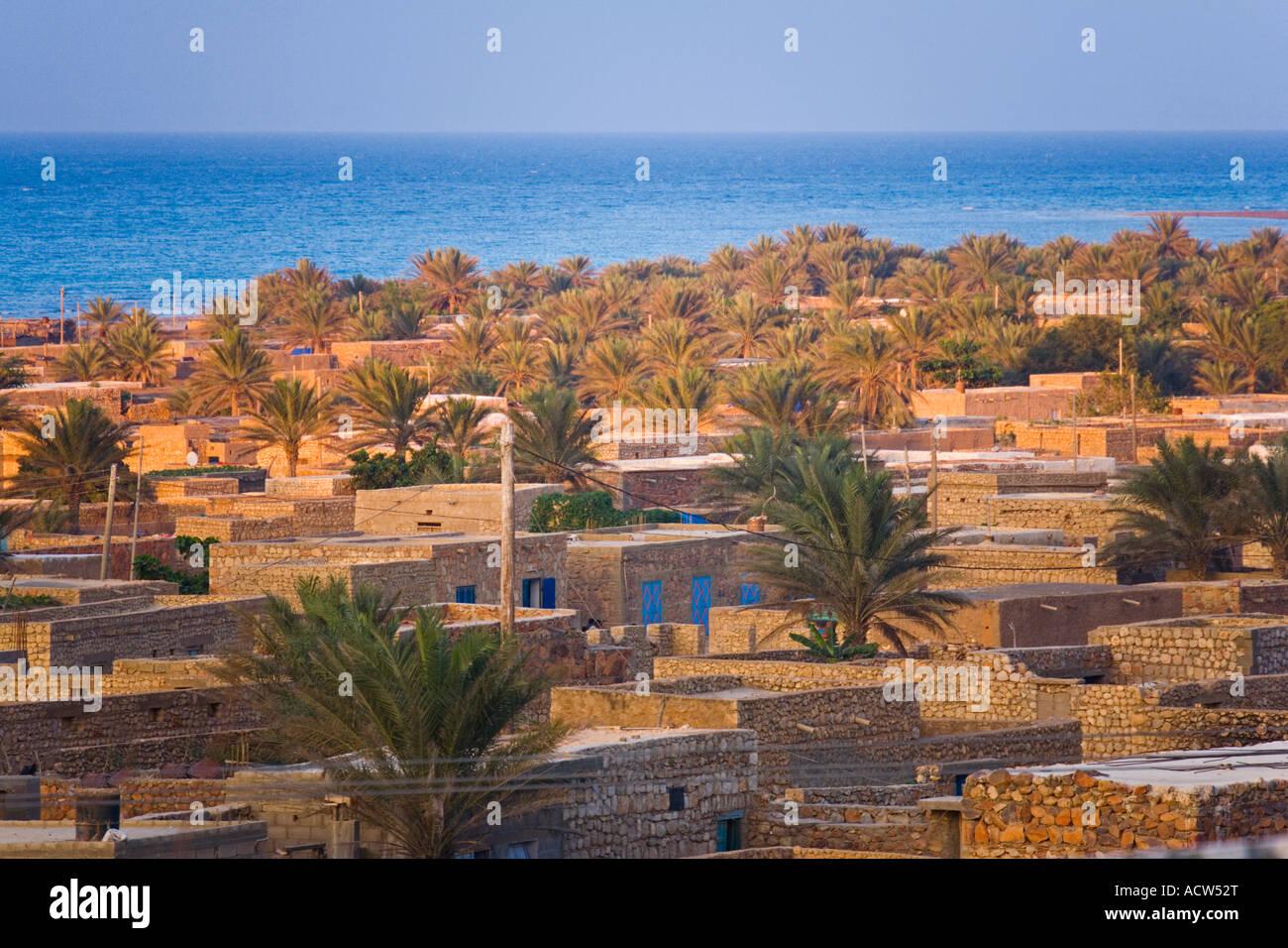 Sunset view of Hadibu the biggest settlement of Socotra Island Yemen - Stock Image
