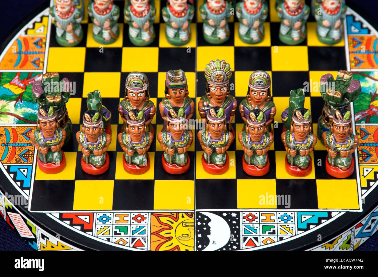 Souvenir chess sets offered for sale in the markets of