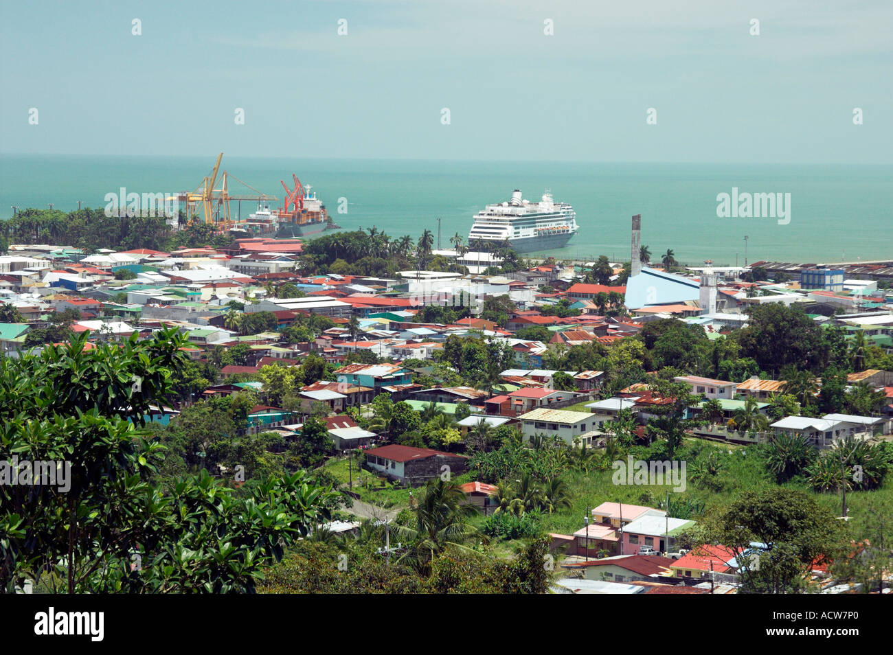 The port city of puerto limon costa rica and its cruise and container stock photo 7561887 alamy - Puerto limon costa rica ...
