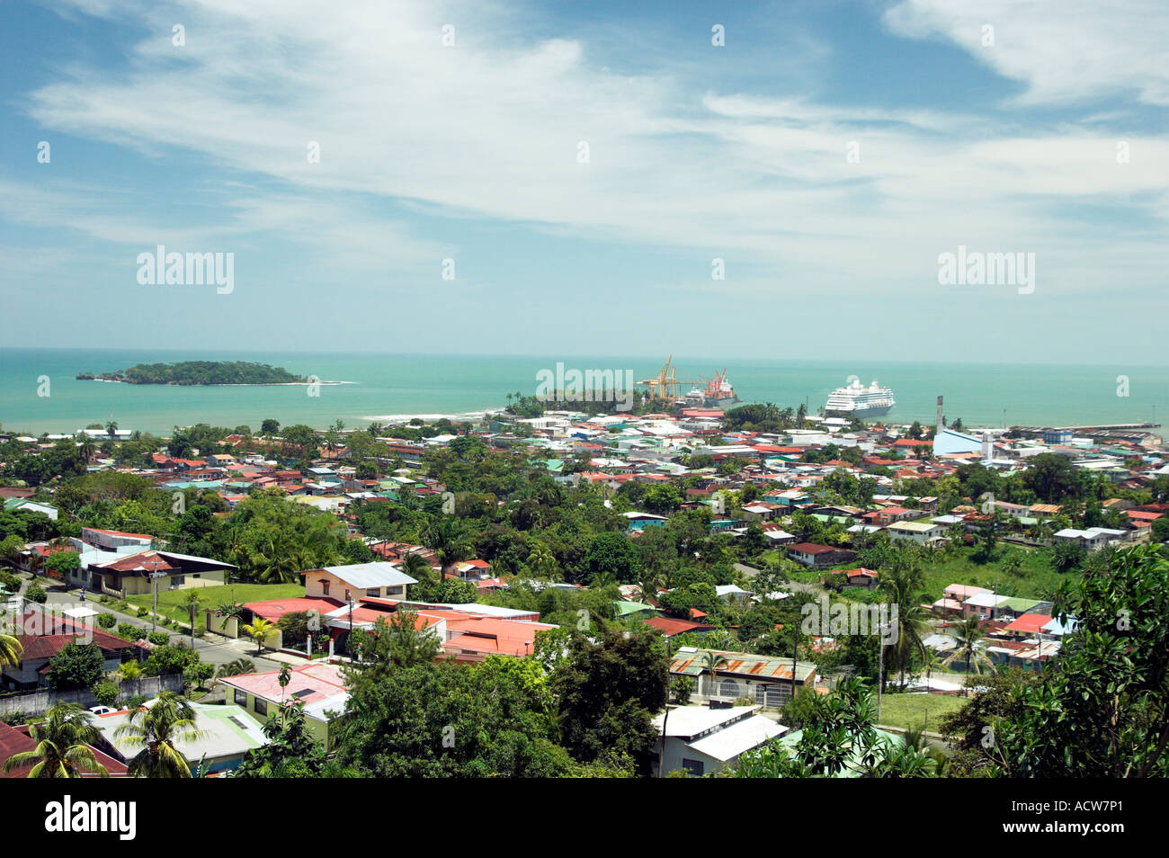 The Port City Of Puerto Limon Costa Rica And Its Cruise And Container Stock Photo Alamy