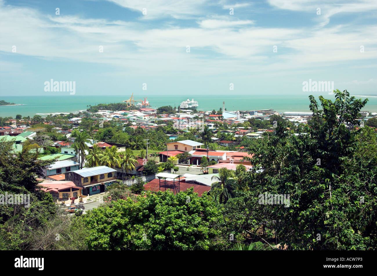 The port city of puerto limon costa rica and its cruise and container stock photo 7561890 alamy - Puerto limon costa rica ...