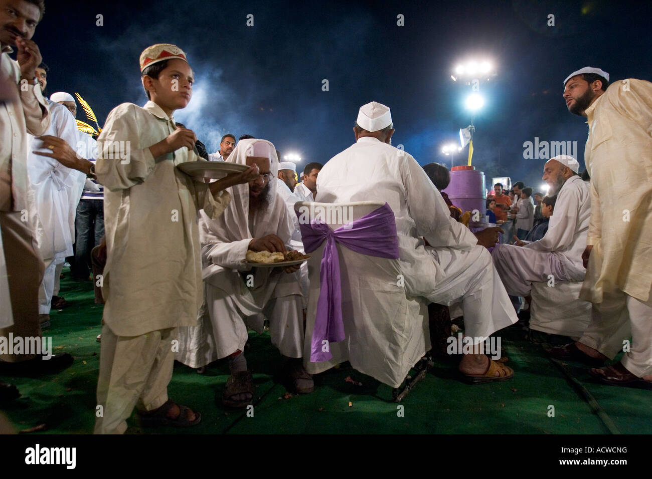 Wedding of the son of the imam of Delhi India with soldiers and 2000 guests - Stock Image