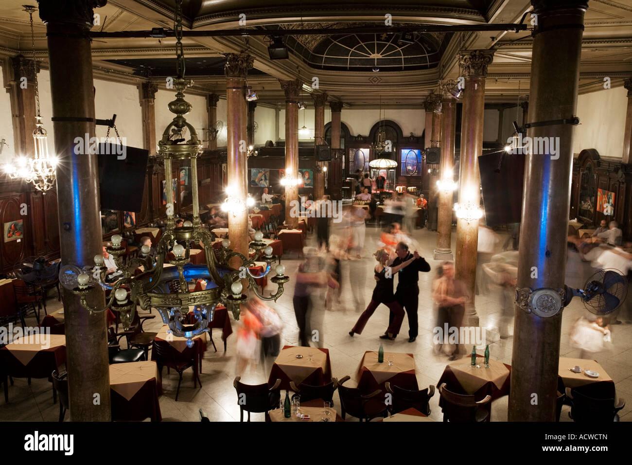 Classic tango dance ballroom in Buenos Aires Argentina Stock Photo