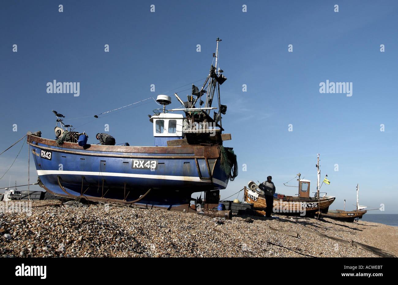 Boats at Dungeness, Kent, UK - Stock Image
