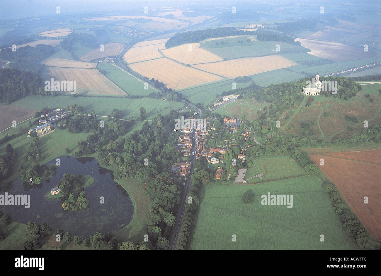 Aerial view of West Wycombe - Stock Image