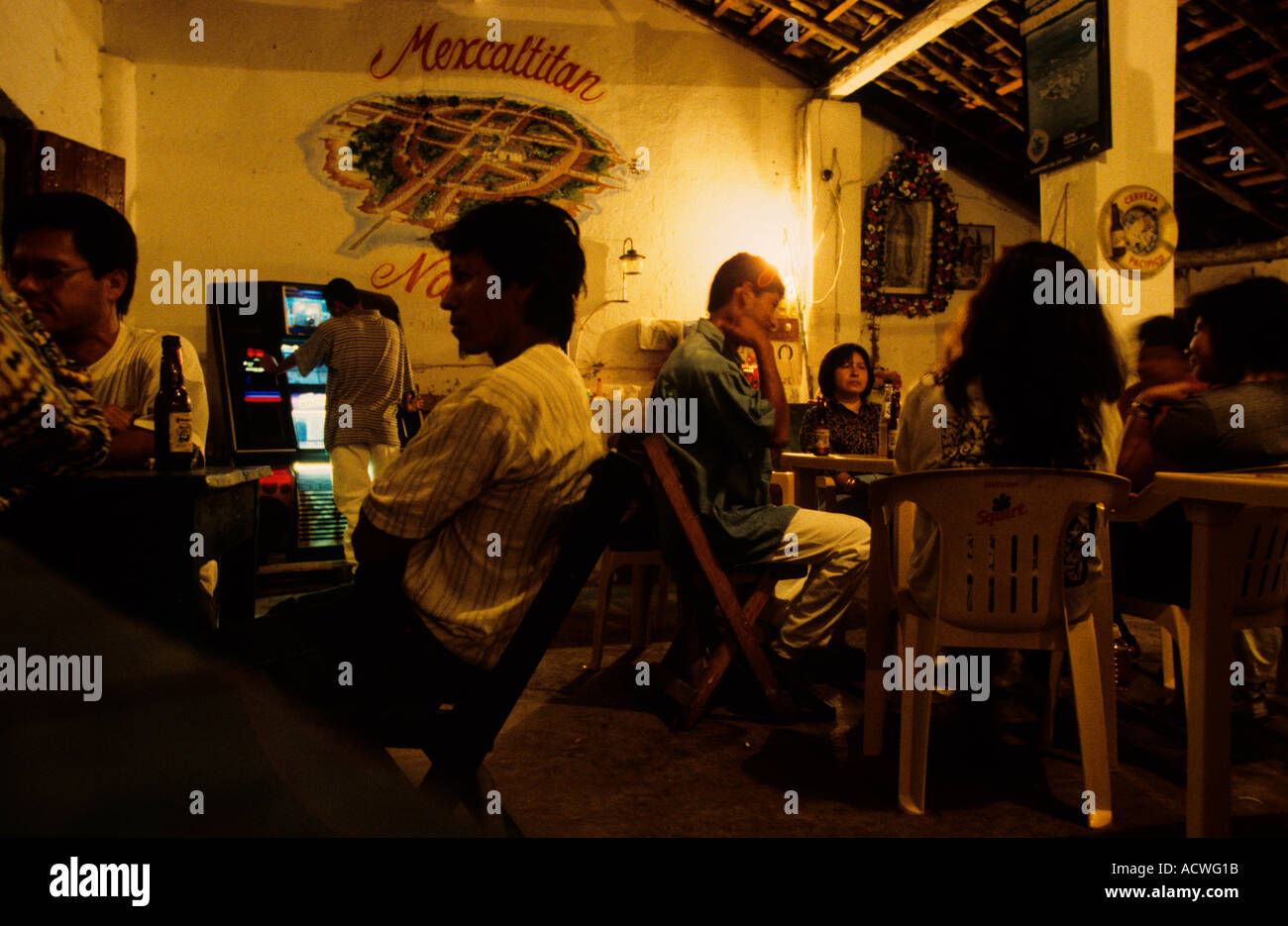 Mexico Nayarit Mexcaltitan Restaurant - Stock Image