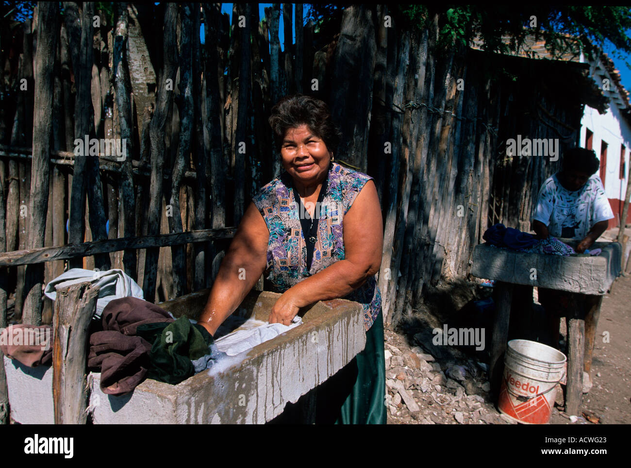 Mexico Nayarit Mexcaltitan laundry - Stock Image