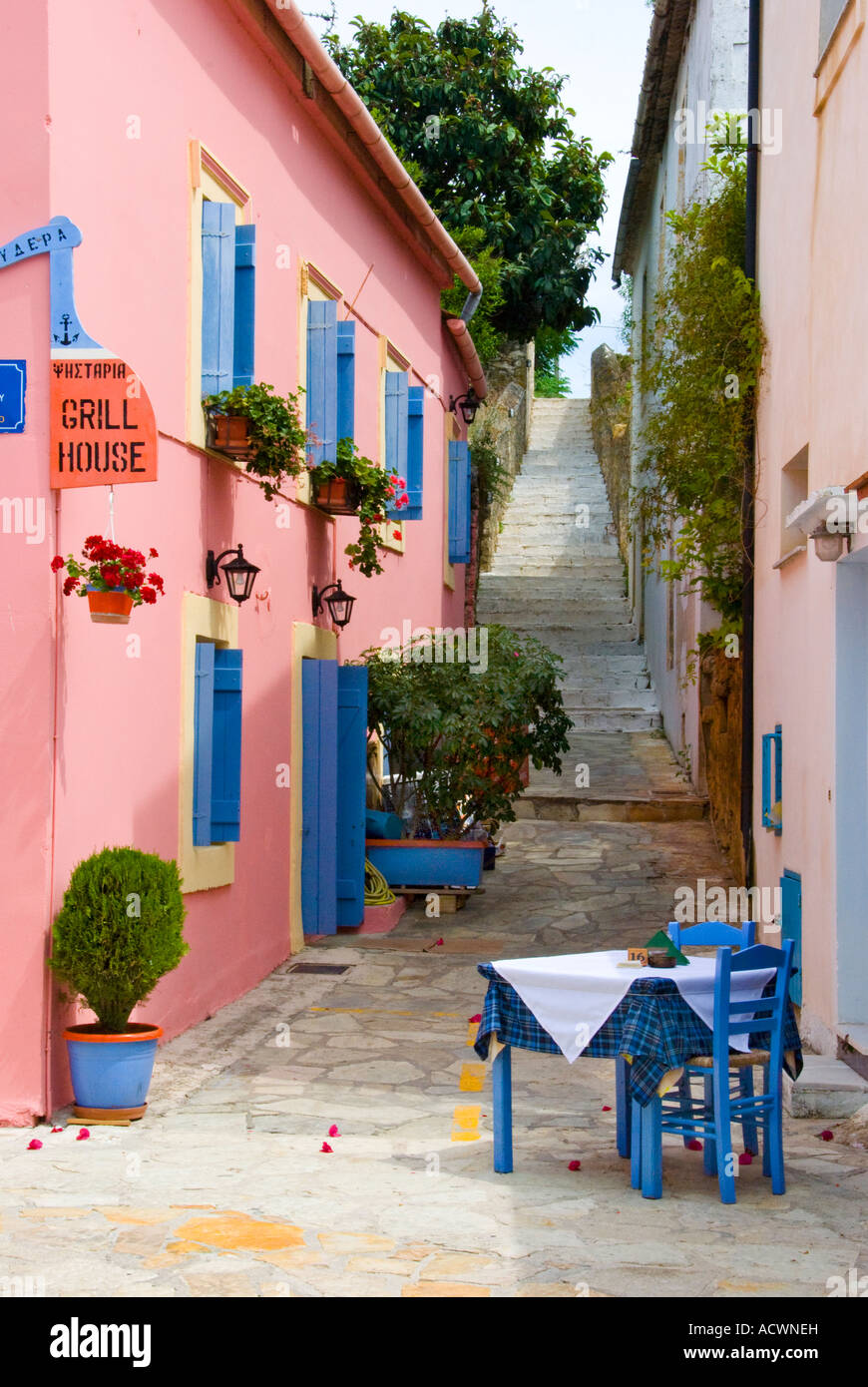 Fiskardo, Kefalonia, Ionian Islands Greece. - Stock Image