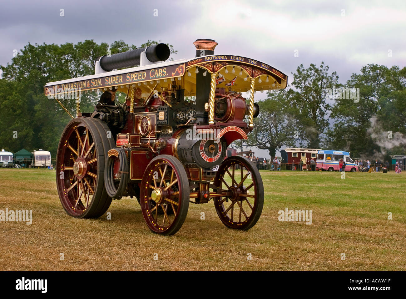 Prestwood Steam Fair Showmans Traction engine. EDITORIAL USE ONLY - Stock Image