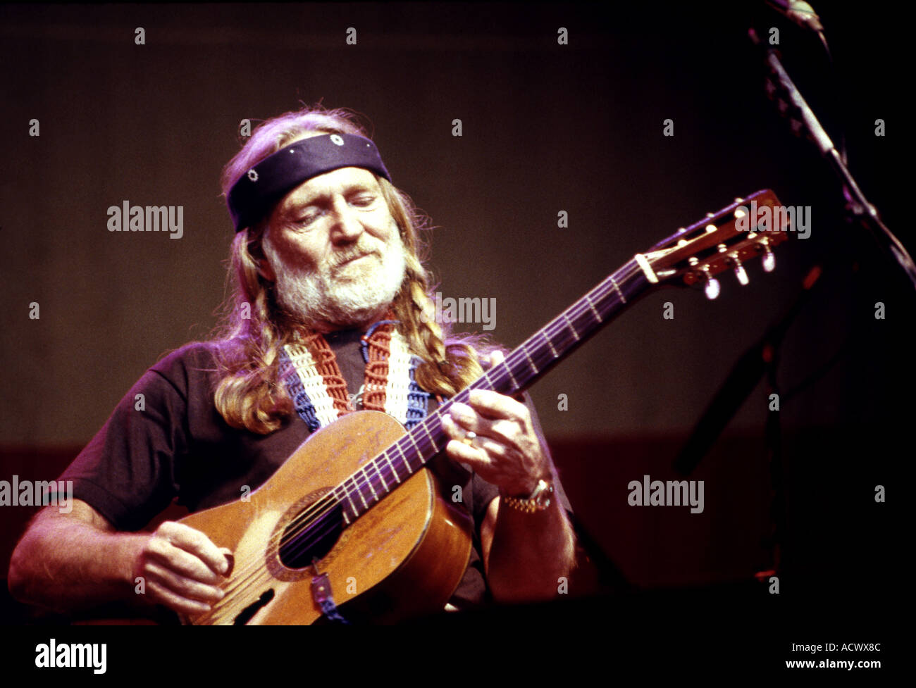 WILLIE NELSON US Country singer - Stock Image